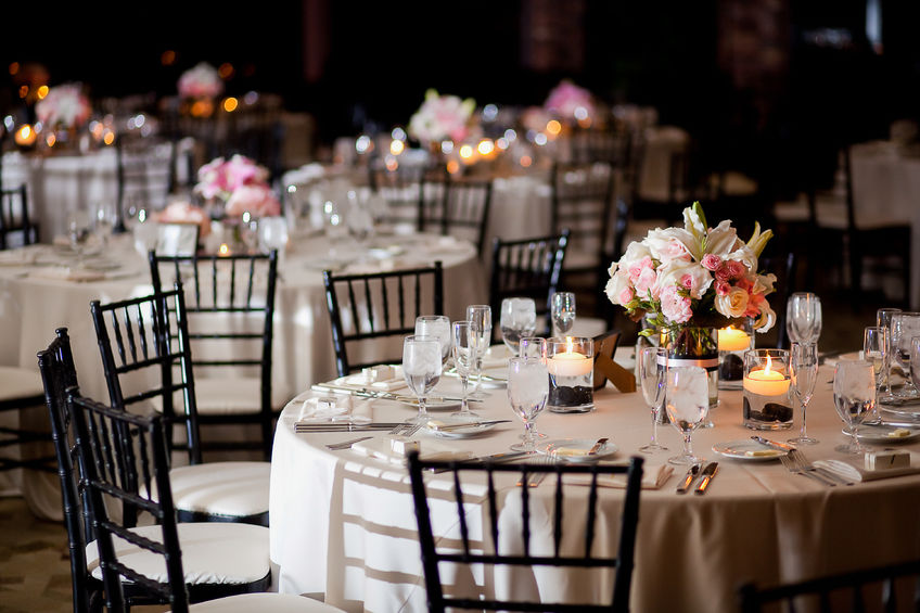45060031 - tables with centerpieces at wedding reception